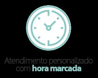 Atendimento personalizado e com hora marcada